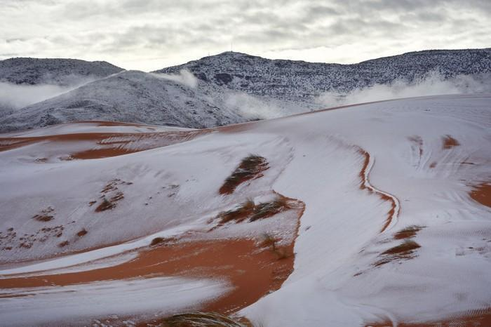 Neve no deserto do Sahara (4)