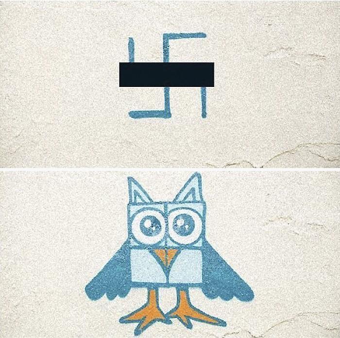 Artistas cobrem suásticas com grafite com o Projeto Paintback (10)