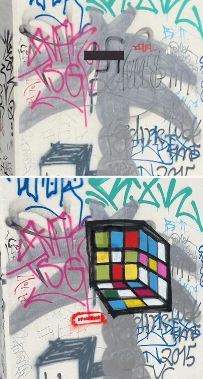 Artistas cobrem suásticas com grafite com o Projeto Paintback (5)