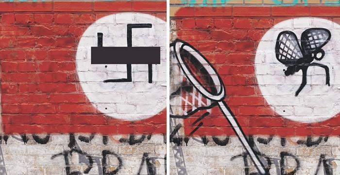 Artistas cobrem suásticas com grafite com o Projeto Paintback (4)