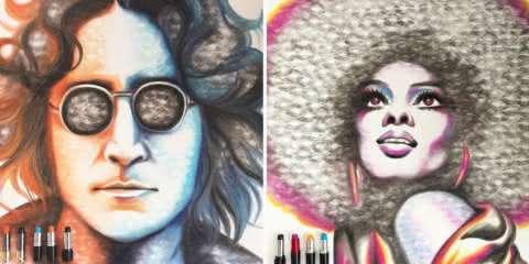 Artista faz pinturas com beijos de batom e o resultado é apaixonante