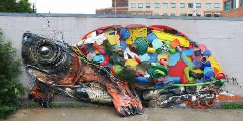 Eu nunca imaginei que lixo poderia virar esculturas tão impressionantes
