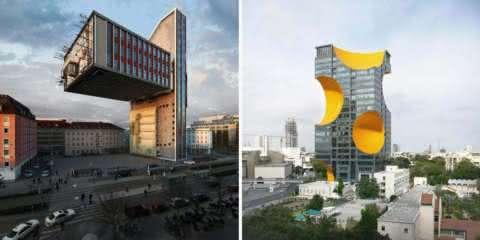 Artista manipula paisagens urbanas para criar cenários surrealistas