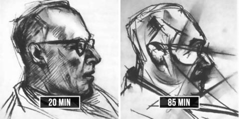 Experimento com LSD de 1950 pediu para artista desenhar retrato 9 vezes