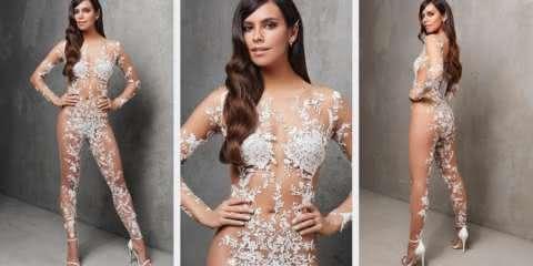 Traje transparente é a última moda das noivas ousadas