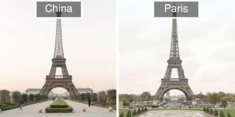 Fotos mostram as surreais semelhanças entre Paris e sua réplica chinesa
