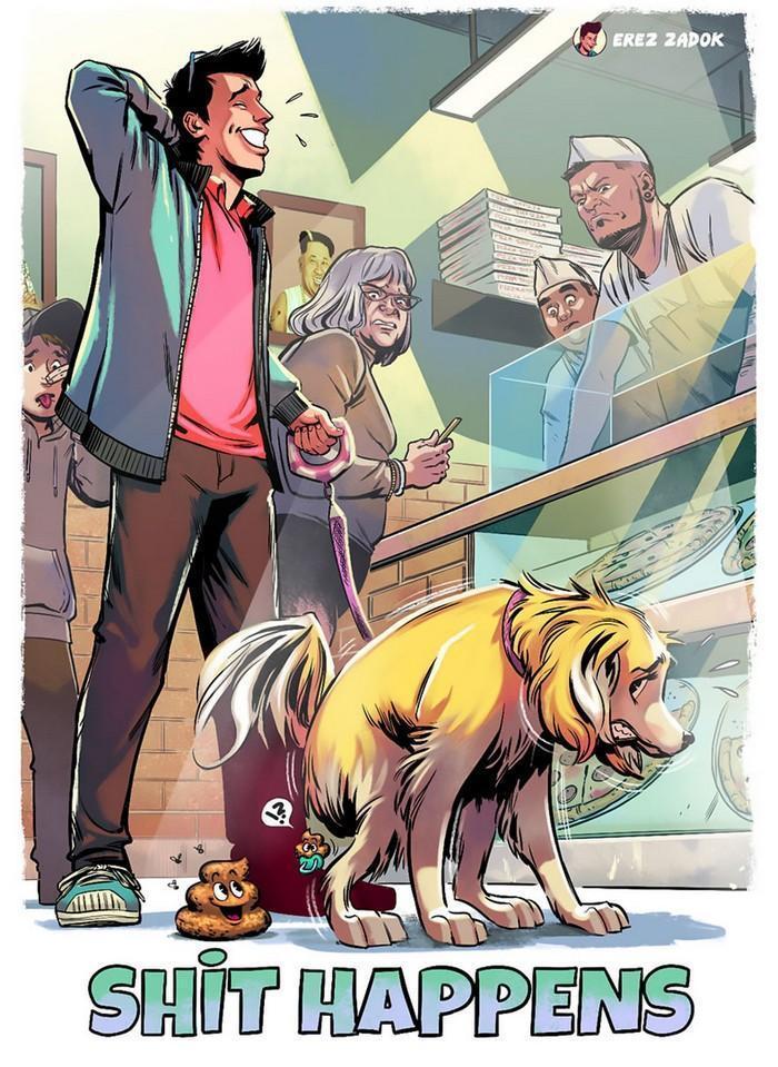 Ilustrador cria quadrinhos da sua cachorra (3)