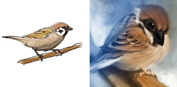 Artistas refazem seus desenhos para provar sua melhora com o tempo (10)