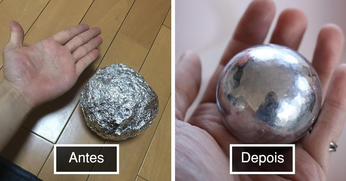Japoneses transformam bolas de papel alum nio em esferas for Bolas para piscina de bolas