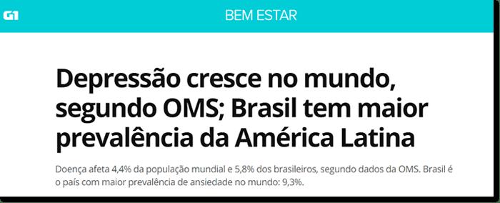 depressão e ansiedade no brasil