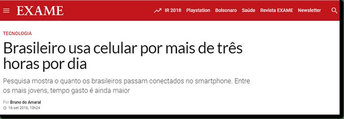 brasileiro e o uso do celular