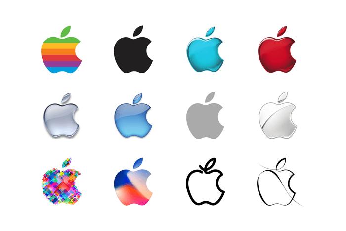 curiosidades sobre a apple - logo marca