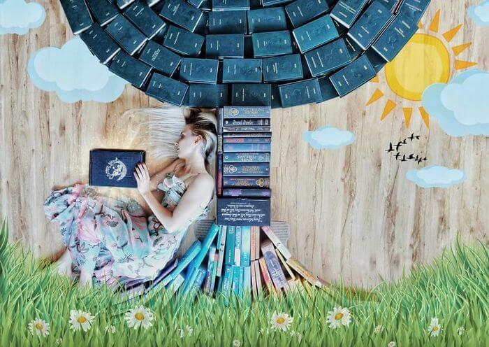 fotos criativas com livros  (17)